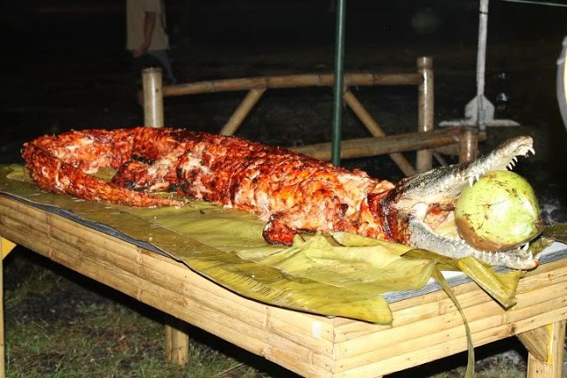 Exotic cuisine lechon buwaya roasted crocodile coral for Cuisine a crocs